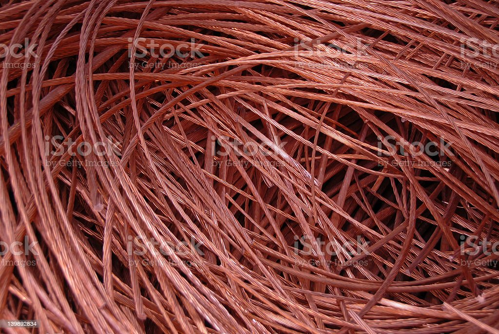 Copper royalty-free stock photo
