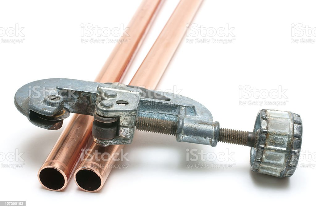 copper pipe and cutter royalty-free stock photo