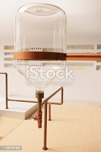 istock copper pipe and faucet attached with the glass jar 1159791937