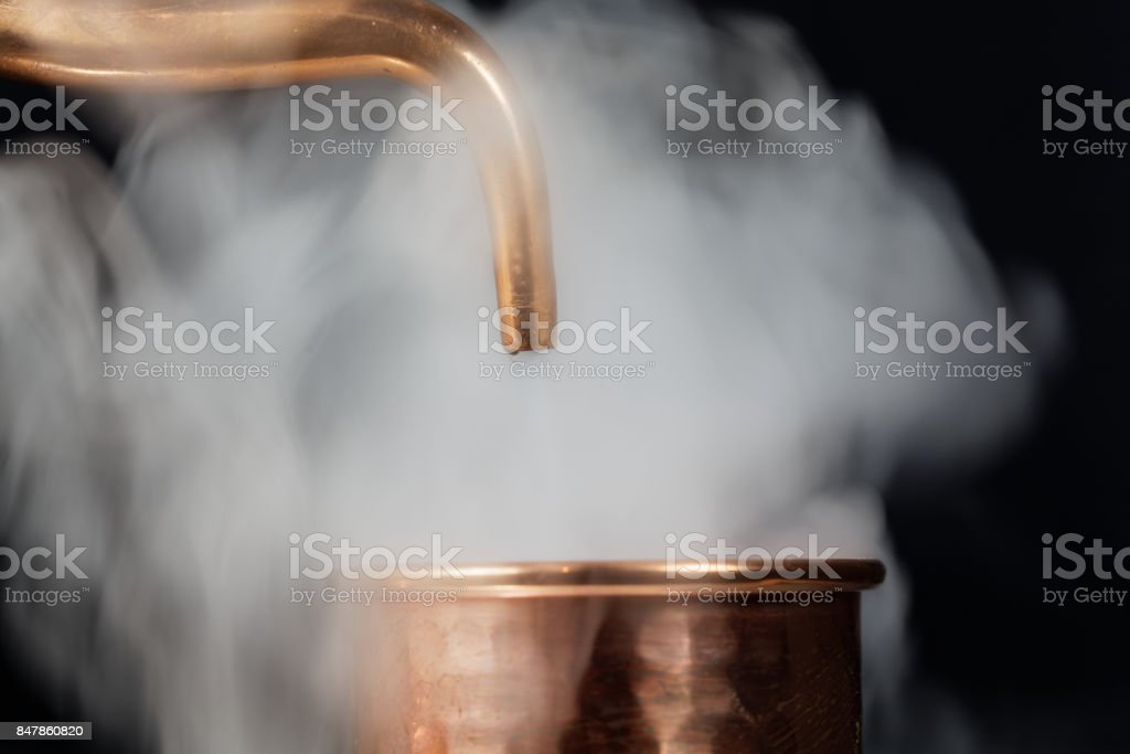 Copper Pipe With Steam Stock Photo & More Pictures of