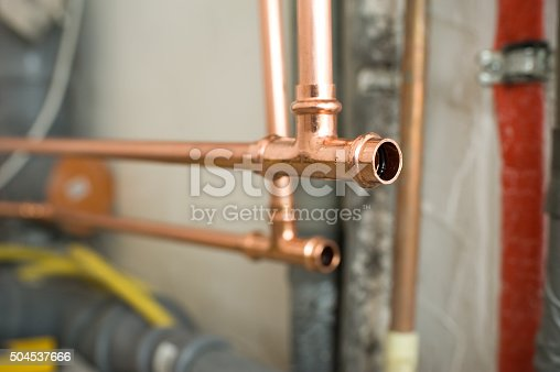 Installation of copper water pipes