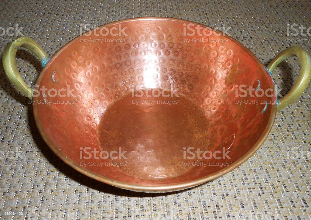 Cazuela de cobre. foto de stock libre de derechos