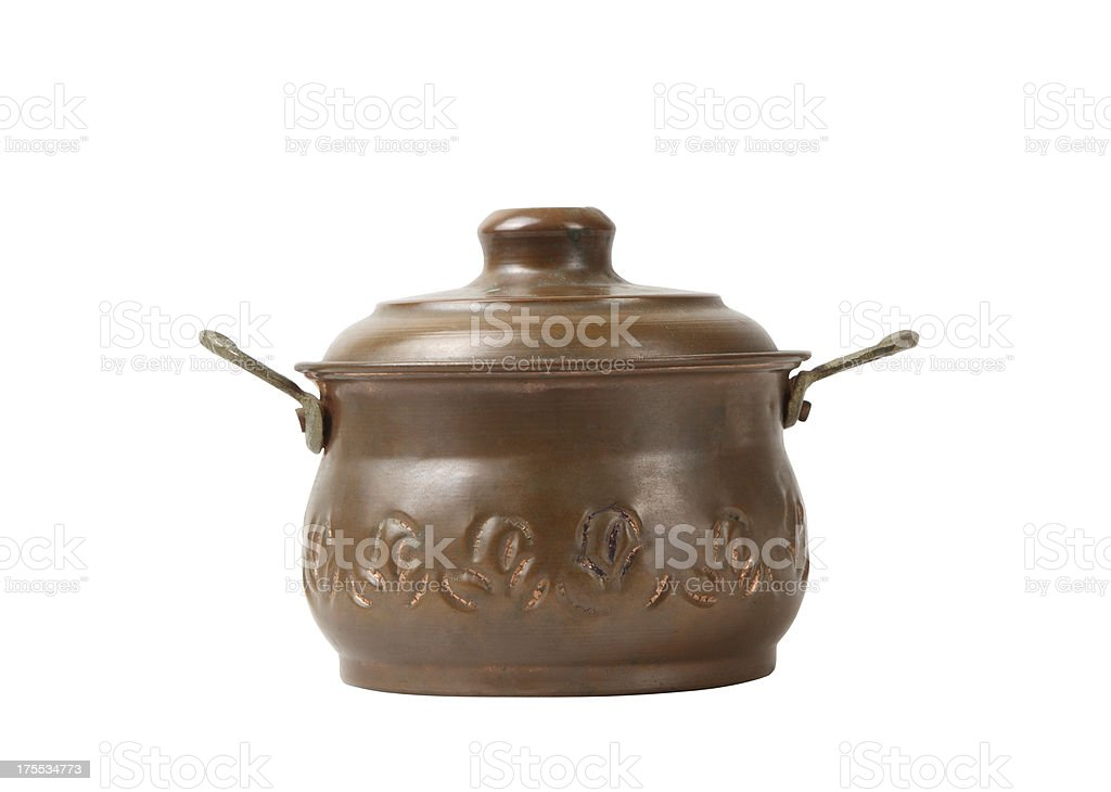 Copper Pot+Clipping Path (Click for more) royalty-free stock photo