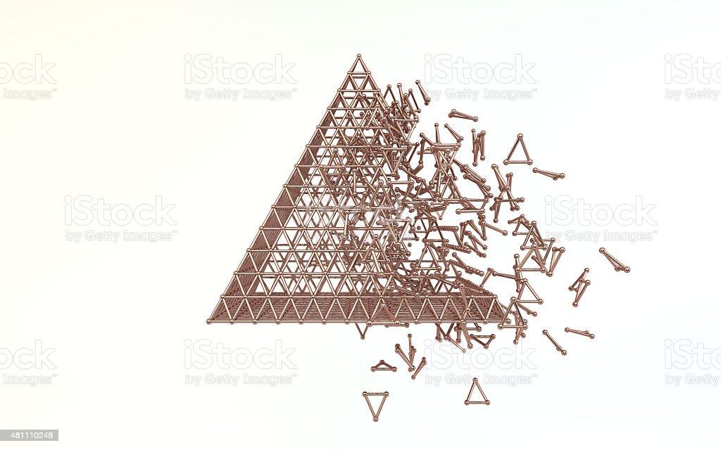 copper pyramid stock photo