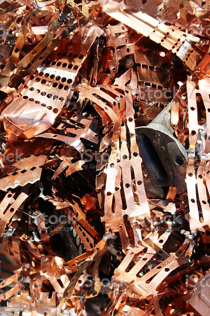Copper Recycling stock photo