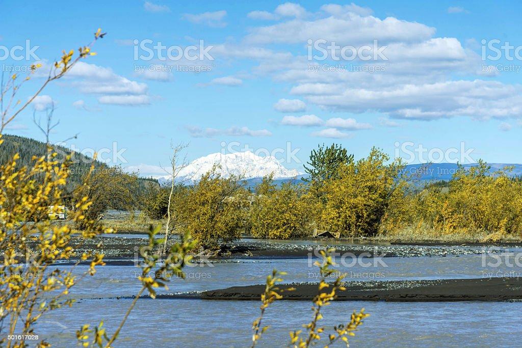Copper River in Alaska stock photo