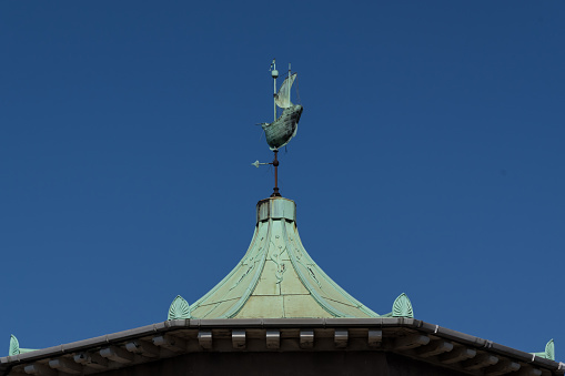 Copper Roof And Wind Vane Of The Bradbury Building Stock Photo - Download Image Now