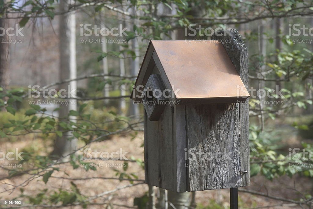 Copper Roof Birdhouse royalty-free stock photo
