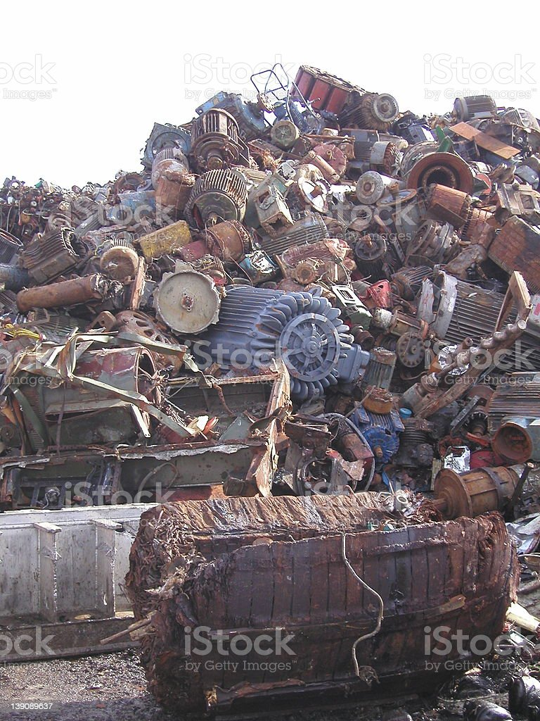 Copper Scrap royalty-free stock photo