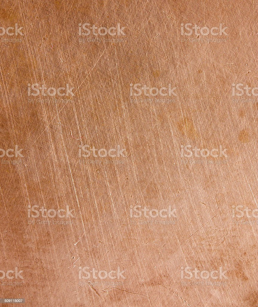 Copper scratched background stock photo