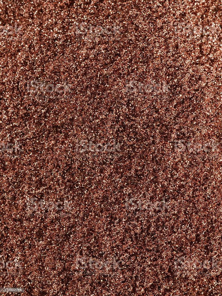 Copper shavings stock photo