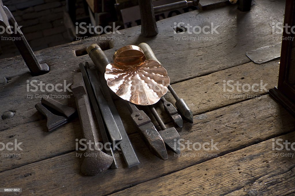 copper smiths tools royalty-free stock photo