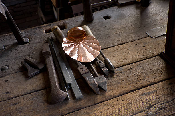 copper smiths tools stock photo