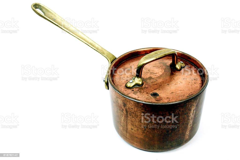 Copper Stock Pot stock photo