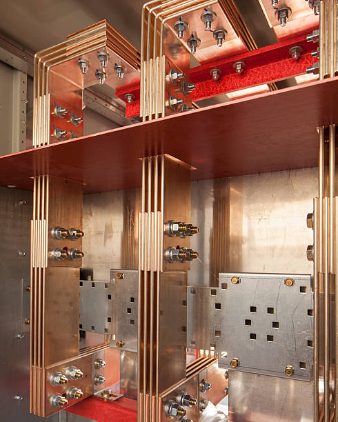 Copper Switchgear Bussing stock photo