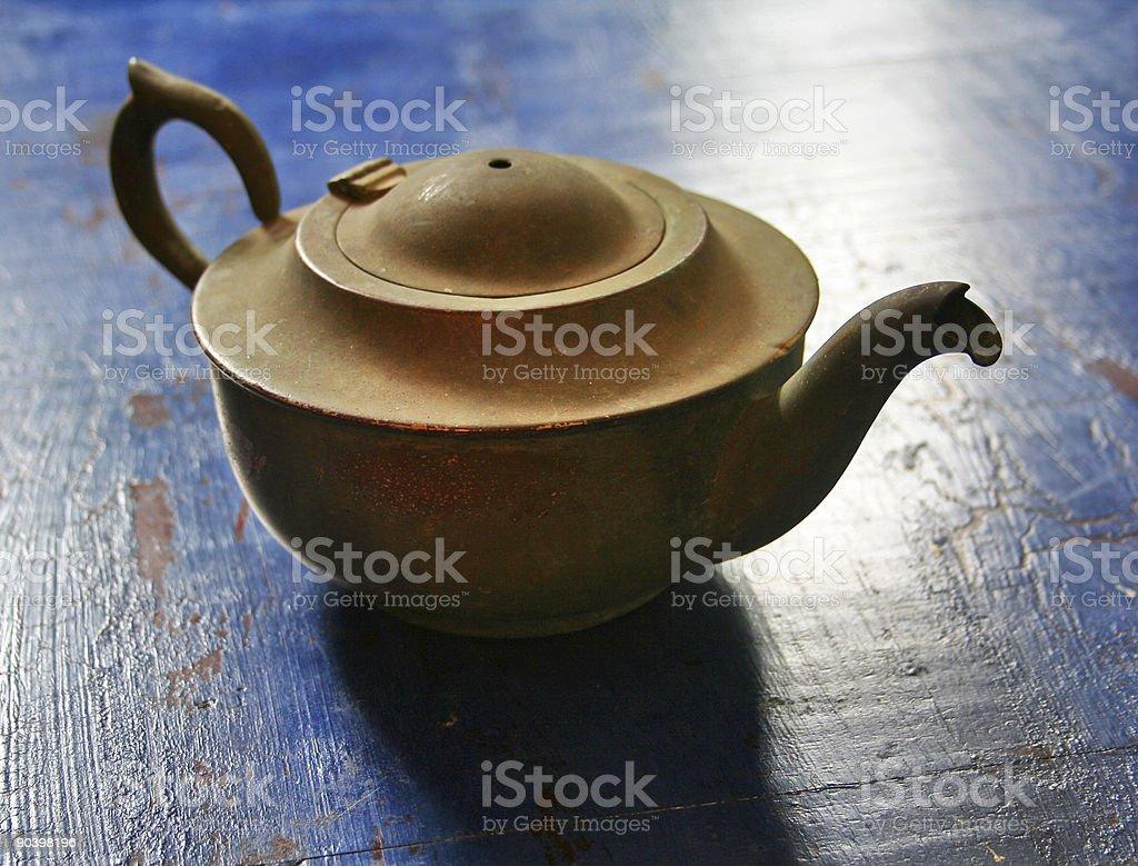copper teapot royalty-free stock photo