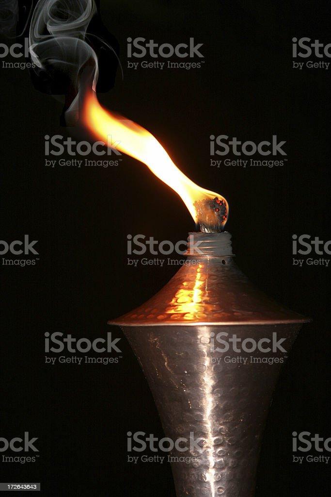 Copper Tiki Torch royalty-free stock photo