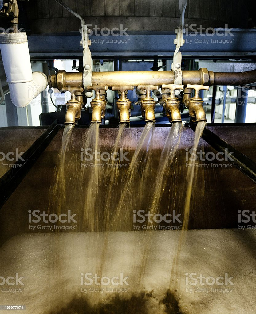 Copper underback and dissolving vessel stock photo