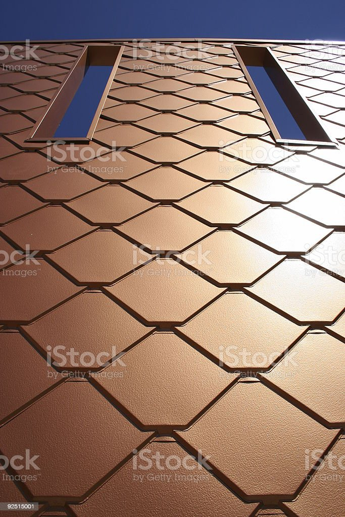 Copper Wall royalty-free stock photo
