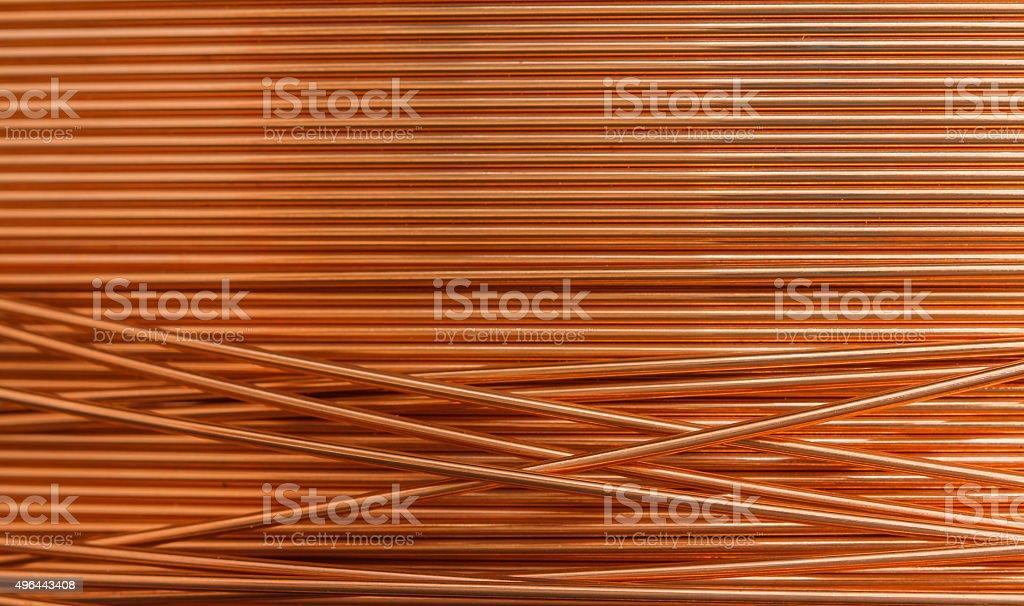 Copper wire background stock photo
