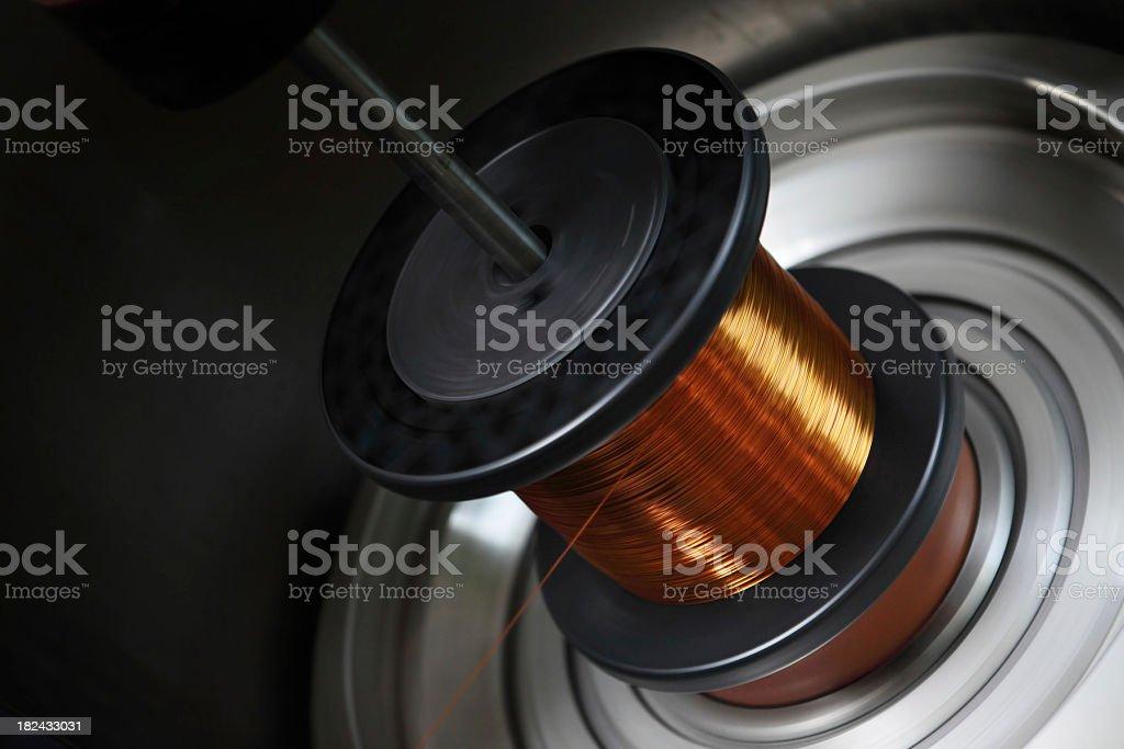 Copper Wire Bobbin royalty-free stock photo
