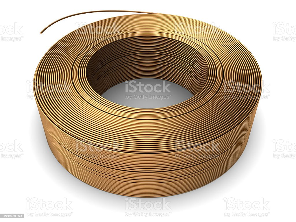 Copper Wire Coil Stock Photo & More Pictures of Business Finance and ...