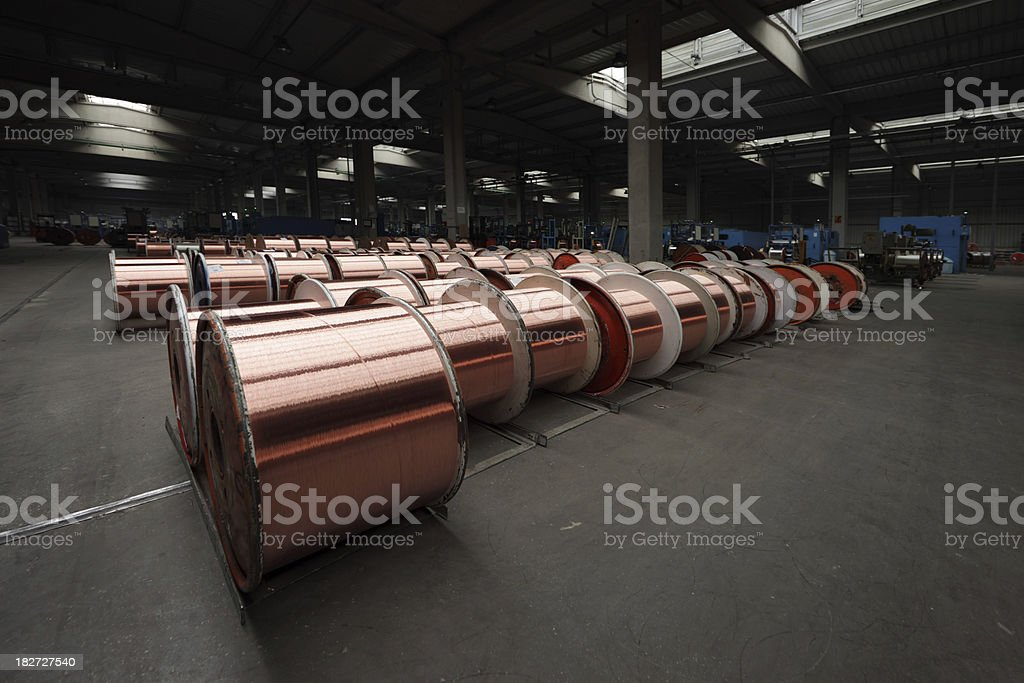 Copper Wire Factory royalty-free stock photo
