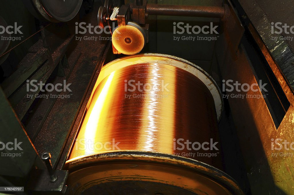 Copper wire manufacturing royalty-free stock photo