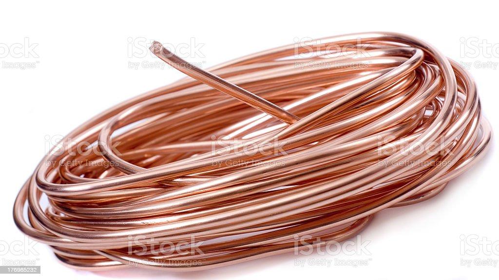 ... copper wire stock photo ...  sc 1 st  iStock : copper wiring - yogabreezes.com