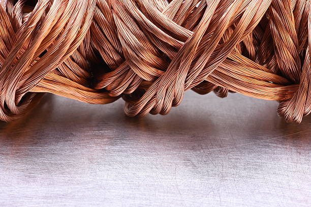 Copper wire raw materials and metals industry - Photo