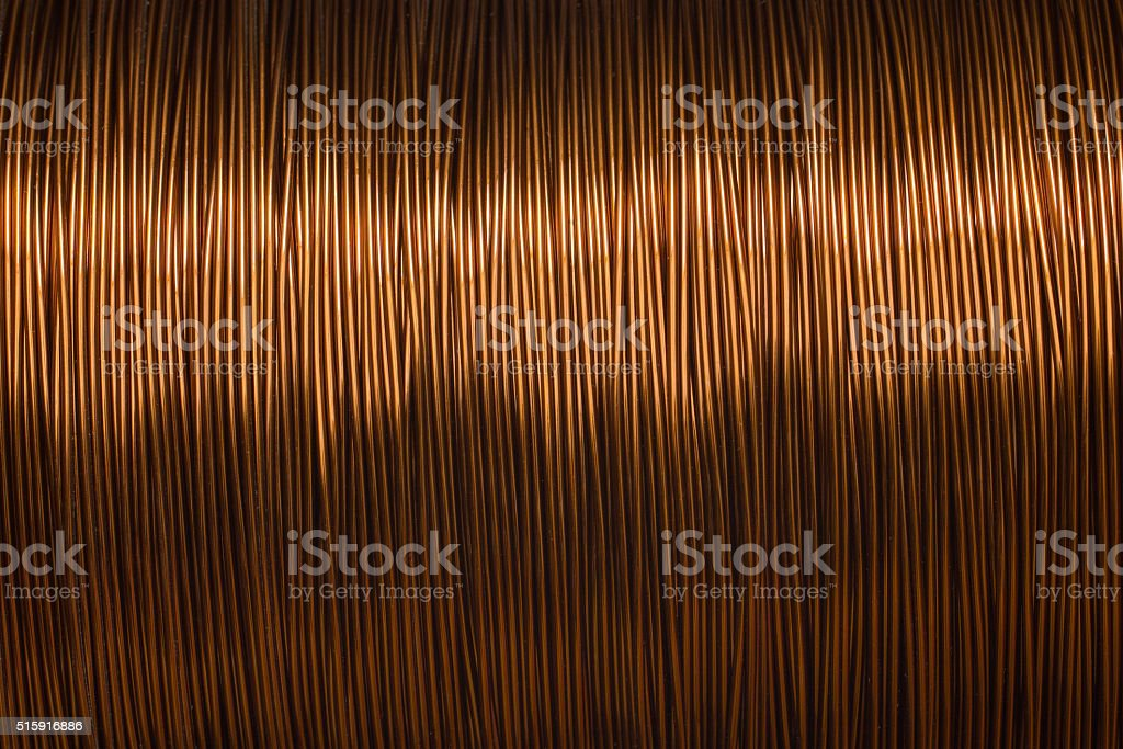 copper wire spool texture metal stock photo