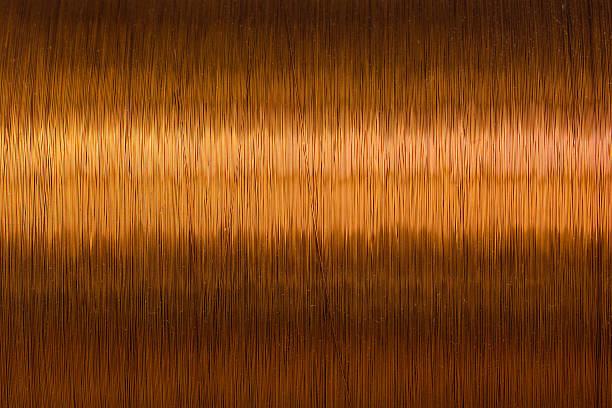 Textur Metall Kupferdraht Spule Stock-Fotografie und mehr Bilder von ...
