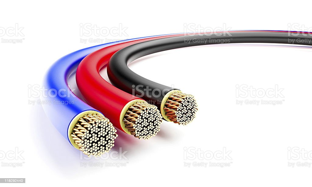 copper wires stock photo