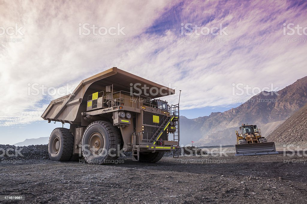 Coppermine Dumptruck stock photo