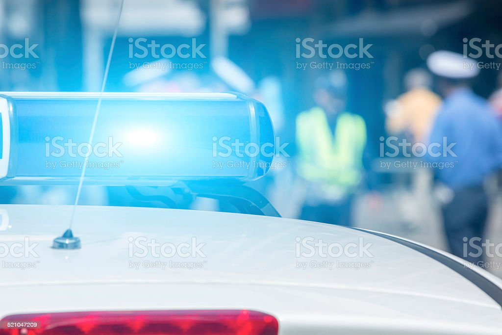 Cops at work stock photo