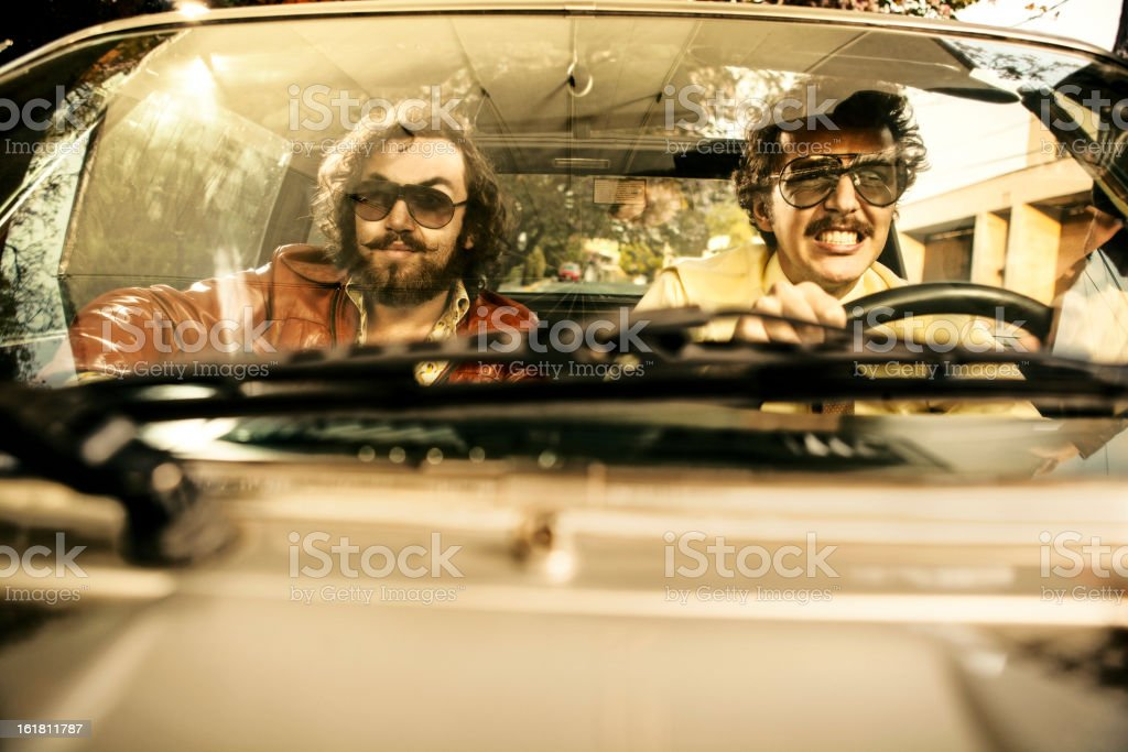 Cops in a car stock photo
