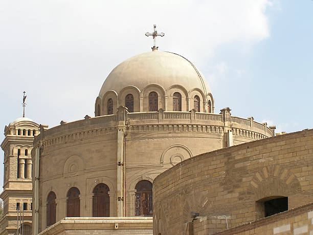 Coptic church 2 stock photo