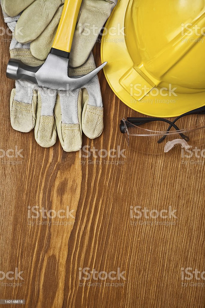 copu space background of construction tools stock photo