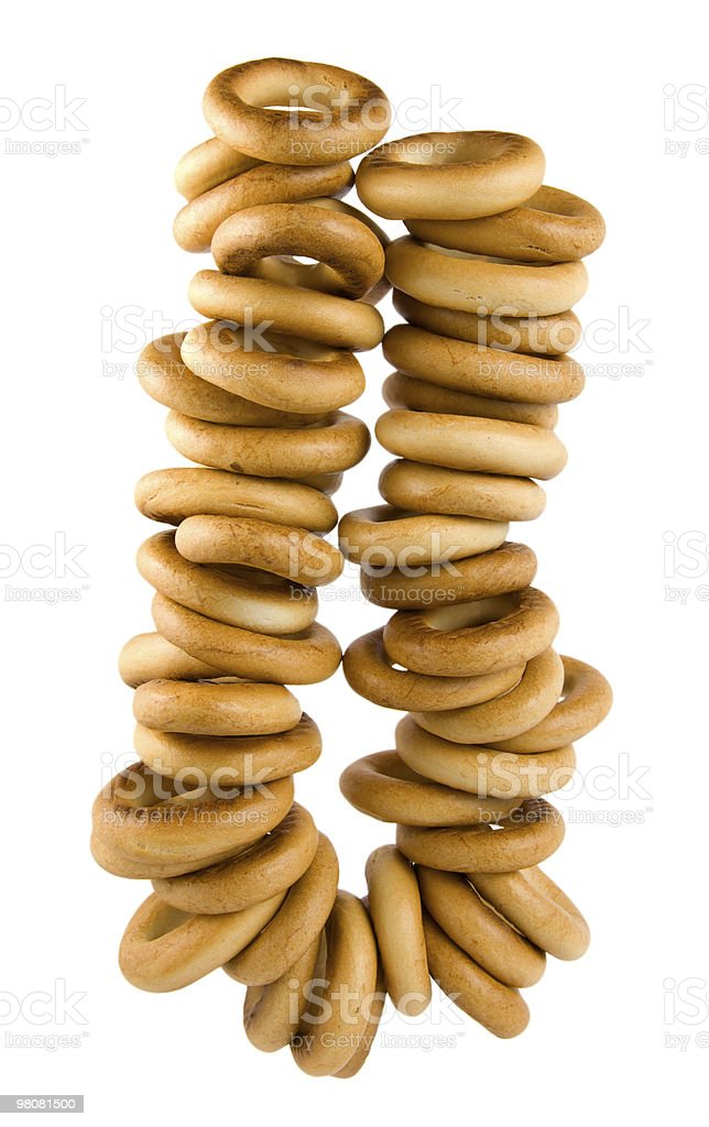 Copula of bagels royalty-free stock photo