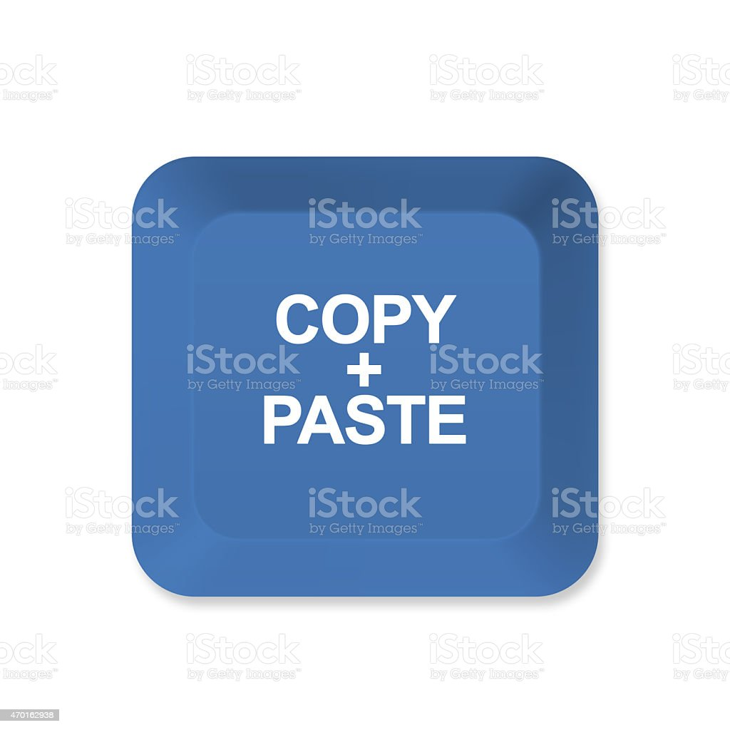 Copy and Paste button stock photo