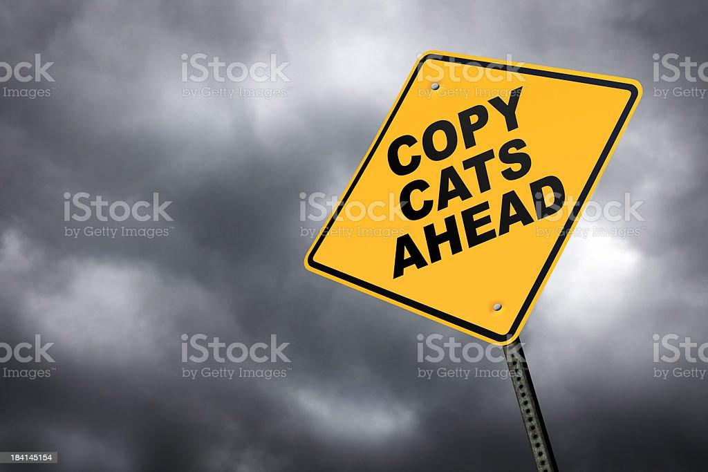 Copy Cats Ahead royalty-free stock photo