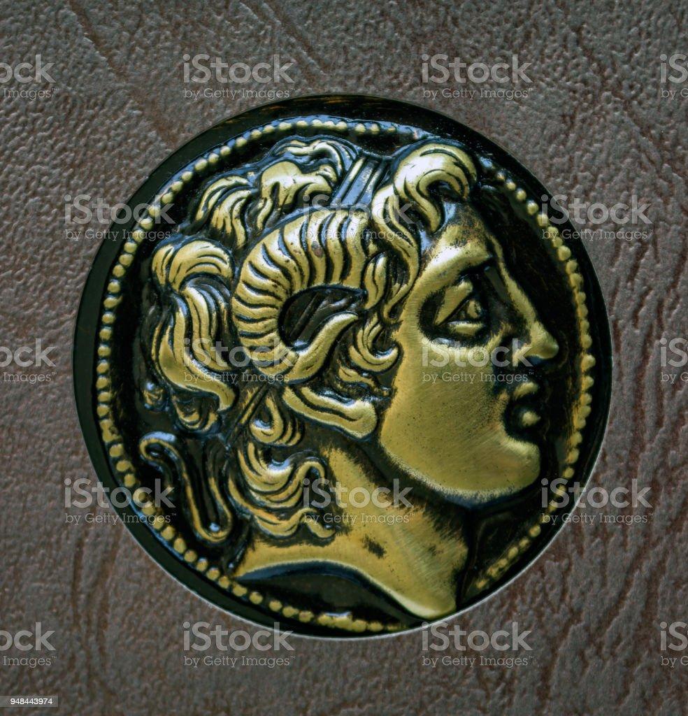 Eine Kopie Der Alten Griechischen Münze Alexander Von Makedonien