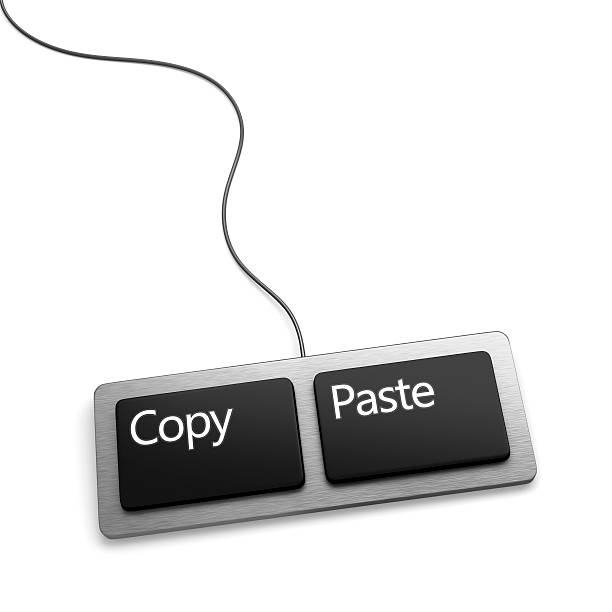 copy paste keyboard (plagiarist tool) - imitation stock photos and pictures