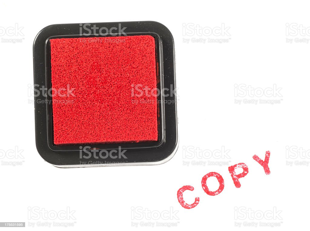 copy red stamp royalty-free stock photo