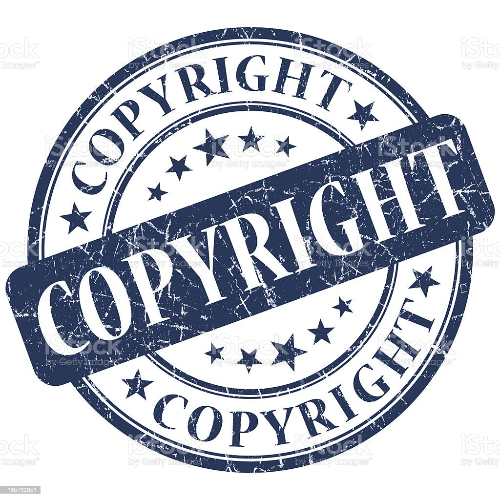copy round blue stamp royalty-free stock photo