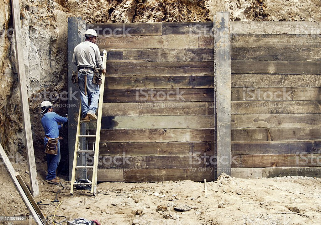 Copy space, construction site royalty-free stock photo