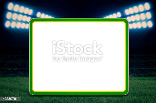 istock Copy space for soccer game 495307811