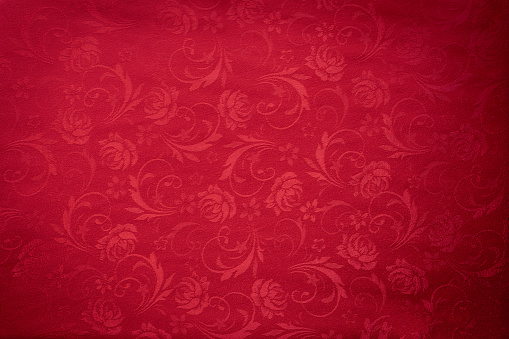 Copy space for text on red texture background, concept of Chinese new year background.