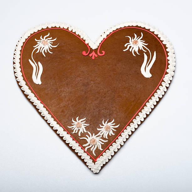 textfreiraum gingerbread cookie herz - lebkuchenherzen stock-fotos und bilder