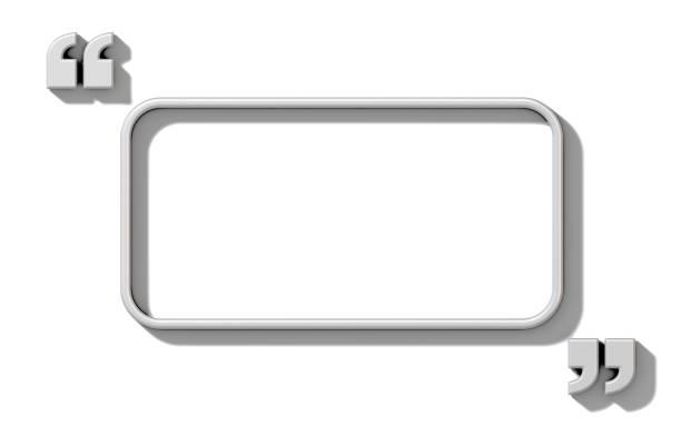 textfreiraum in weiß zitiert 3d - komma stock-fotos und bilder